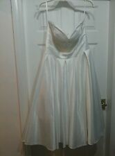 Wedding Dress Tea Length in Ivory size XL Design by Unique Vintage