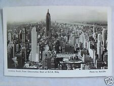 RPPC NYC NY LOOKING S. FROM OBSERVATION ROOF OF R.C.A. BLDG! REAL PHOTO POSTCARD