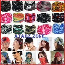 Set of 2  Bandana Cap Head Wrap Motorcycle Bicycle Headband Scarf Face Mask