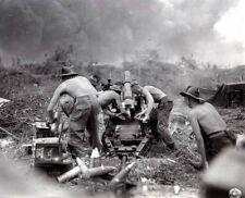 WWII B&W Photo Australian Artillery Borneo July 1945 WW2  / 1254  NEW