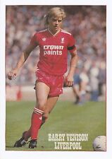 Barry chevreuil liverpool 1986-1992 original hand signed photo magazine de coupe