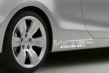 2xVinyl sticker car i-VTEC DOHC 29x6cm honda JDM black or white NEW Decal!!!