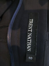 Great Sz 10 Trent Nathan Black Corporate Pants Designer