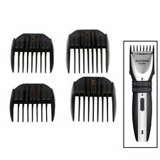 4Pcs Guide Comb Attachment For Electric Hair Clipper Trimmer Shaver Black new