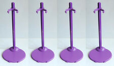 New 4 PCS Barbie Doll  Stand / Display -- 4 Purple free shpping