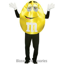 CL51 Mens M&Ms Chocolate Yellow DELUXE Halloween Fancy Adult Costume