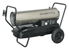 Space Warmer® Paraffin/Kerosene/Diesel Heater 100,000Btu/hr with Wheels Stainles