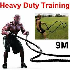 38mm TRAINING BATTLING BATTLE POWER ROPE SPORT EXERCISE FITNESS BOOTCAMP UK