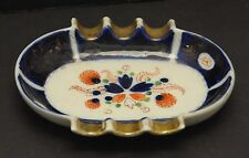 "VINTAGE OCCUPIED JAPAN HOHUTOSHA BLUE COBALT ASHTRAY 5.5"" X 4.5"""