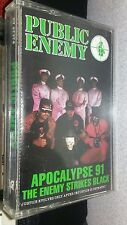 PUBLIC ENEMY APOCALYPSE 91 THE ENEMY STRIKES BLACK RAP CASSETTE TAPE 1991