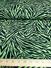 "Green/Black Tiger Animal Print 4 Way Stretch Heavy Poly Lycra Fabric 58"" W BTY"