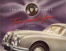 Jaguar 2.4 Litre Mark 1 1955-56 UK Market Sales Brochure