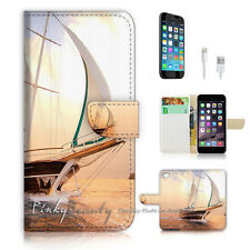iPhone 7 (4.7') Flip Wallet Case Cover P1191 Sailor