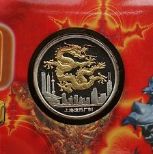 Shanghai Mint:2000 China silver medal lunar Dragon China coin