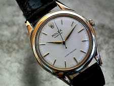 STUNNING 1960 SOLID 9CT GOLD ROLEX SUPER PRECISION AUTO GENTS VINTAGE WATCH