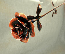 METAL ROSE RED Flower Metal Decoration Floral Handcrafted Copper Roses gift
