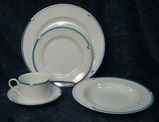 MIKASA JET 5 Piece Place Setting - Dinner Plate, Bowl, Bread Plate, Cup & Saucer