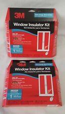 """Lot Of 2 3M Window Insulator Kit Indoor Insulates 1 6'8""""X9' Patio Door Each Box"""