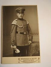 Hannover - stehender Soldat in Uniform - Regiment IR 74 - Schwalbennester / CDV