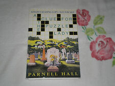 A CLUE FOR THE PUZZLE LADY by PARNELL HALL  *SIGNED*  -SC- -ARC-  -JA-