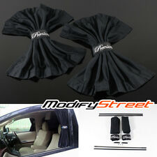 50CM BLACK ADJUSTABLE VIP CAR WINDOW MESH INTERLOCK CURTAIN UV SUNSHADE VISOR X2