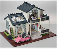 BRAND NEW Wooden Dollhouse Miniature DIY Kit With Furniture Doll House Gift