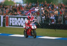 Carl Fogarty Hand Signed 12x8 Photo Ducati Superbikes 3.