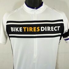 Riva Cycling Jersey 1/2 Zip Bike Tires Direct White Mens Size Small