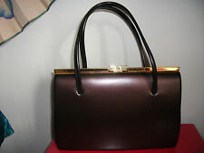 vintage BENNETT kelly 1950s elbief frame brown MOD rockabilly handbag retro