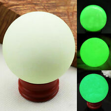 Beautiful Luminous Sphere Ball Glow In The Dark Quartz Crystal Stone With Base