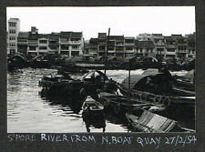 OLD PHOTO GURKHAS SINGAPORE RIVER FROM NORTH QUAY MALAYA VINTAGE 1954  (516)