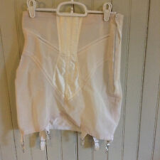 Vintage 5840 Bestform high form open bottom girdle w/ 6 garters & zipper sz 31