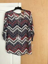 NEW Heartsoul - Multi color sheer printed women top Plus Size 3X($44)