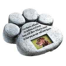 Urns Paw Print Pet Memorial Stone Gravestones Picture Grave Garden Dog Puppy New