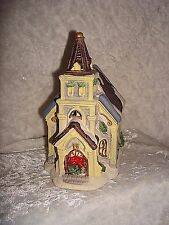 Christmas Village Church Building Porcelain Miniature 5""