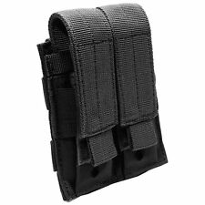 Nylon MOLLE Modular Double Pistol Mag Pouch (Black Color)