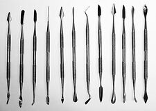 12 Pc Stainless Pick & Spatula Steel Dental Set Carving Wax Clay Pumpkin Carver