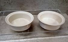 IROQUOIS PRIMARIES WHITE 2 rimmed bowls MICHAEL LAX 8 available