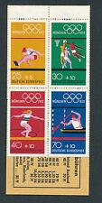 Olympische Sommerspiele 1972, MH 12, Deckel an der Perforation geklebt (Tesafilm