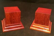 1.75x1.75x2.5 Hand Made Wooden base for figures/miniatures - Solid padauk wood