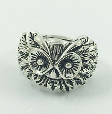 Hot Men's Woman 316L Stainless Steel Vogue Design Mini Owl Ring Size 7