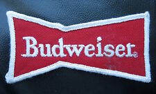 BUDWEISER EMBROIDERED SEW ON ONLY PATCH BOWTIE BEER ALE VINTAGE