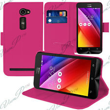 Housse Etui Coque Portefeuille Support Video ROSE Asus Zenfone 2 ZE500CL/ 2E