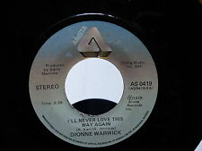 DIONNE WARWICK I'll never love this way again In your eyes AS0419pressage CANADA