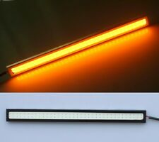 2x Amber/Yellow/Orange 17CM COB 6W LED Strip Daytime Running DRL Light 420LM