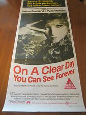 On A Clear Day (You Can See Forever) -1970 - Original Australian Daybill Poster