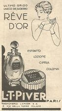 W2361 Profumo Rève d'Or - L.T. Piver - Paris - Pubblicità del 1930 - Vintage ad
