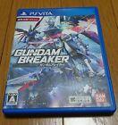 Used PS Vita GUNDAM BREAKER Mobile Suit Japan Import