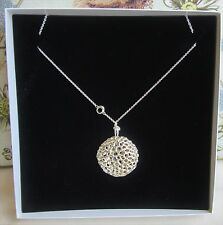 BNIB Rachel Galley Sterling Silver Memento Disc Locket & Chain