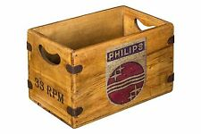 Vintage Box Philips Records Radio & TV Retro Advertising Crate 1960s Large